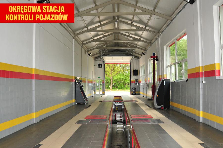 Wyposażenie Okręgowej Stacji Kontroli Pojazdów umożliwia wykonywanie kompleksowych przeglądów technicznych i rejestracyjnych